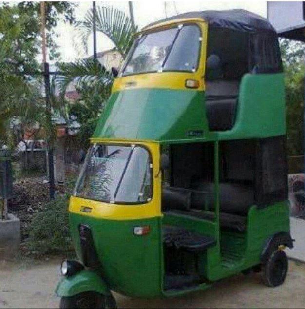 Double decker autorickshaw