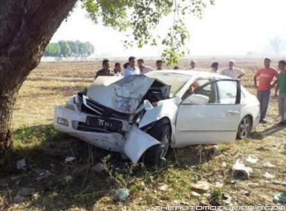 Jaspal Bhatti Honda Accord Accident 1
