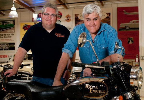 Jay Leno with his Royal Enfield