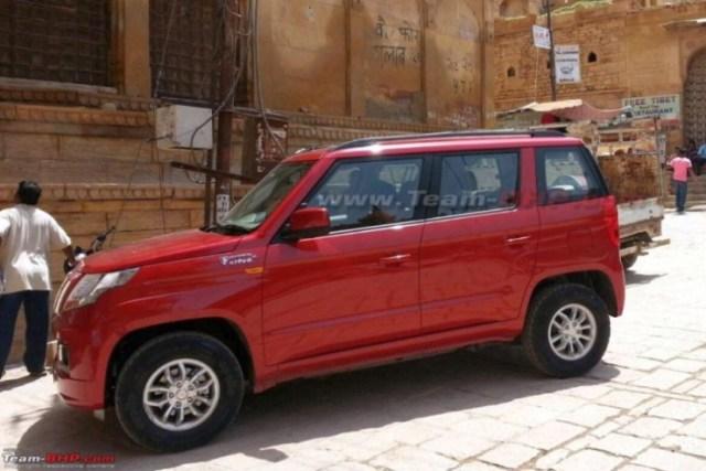 Mahindra TUV300 Compact SUV Spyshot 1