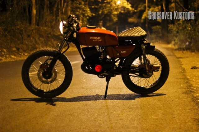 Crossover Kustoms' Yamaha RX135 Cafe Racer 4