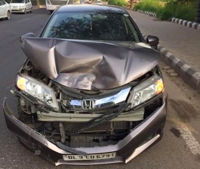Honda City Collision