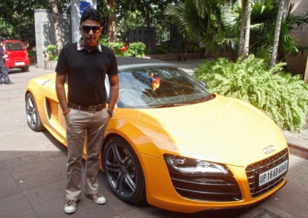 Bhushan Kumar with his Audi R8 Spyder