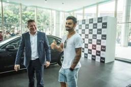 Virat Kohli with his new Audi A8L W12 Quattro Luxury Saloon 12