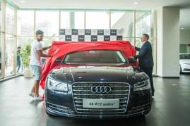 Virat Kohli with his new Audi A8L W12 Quattro Luxury Saloon 3