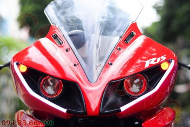 Modified R15 headlamp conversion