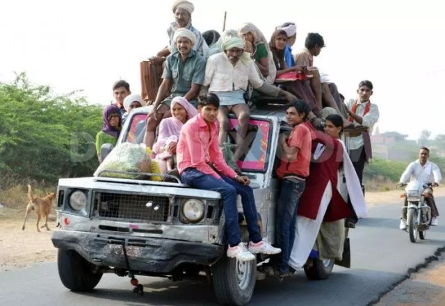 Overloaded Car in India
