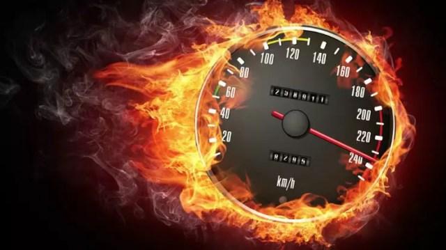 Tachometer Flames