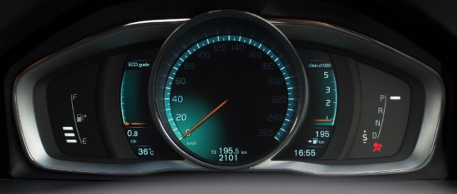 Volvo S60 Cross Country cluster- eco