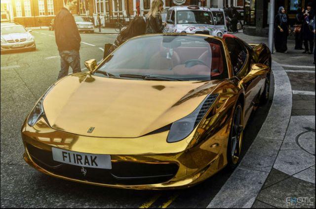 Gold Plated Ferrari Car (2)