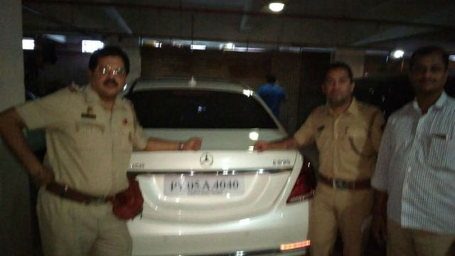 Bollywood producer Bhushan Kumar's Mercedes Maybach (notice the Puducherry plates) seized for road tax evasion