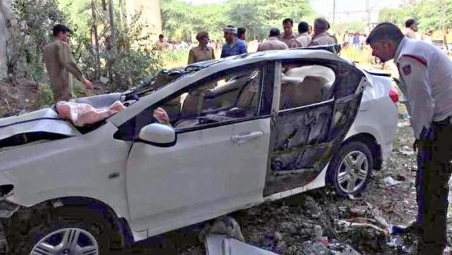 Honda City Punjabi Bagh Crash 3