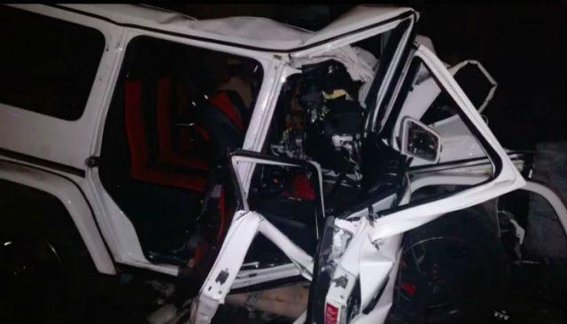 Nishit Narayana Mercedes Benz G63 AMG Crash