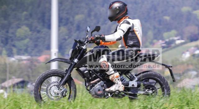 KTM Duke 390 based Scrambler