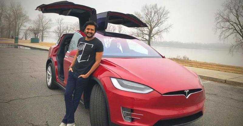 Genelia DSouza Gifts Ritesh Deshmukh A Tesla Model X SUV