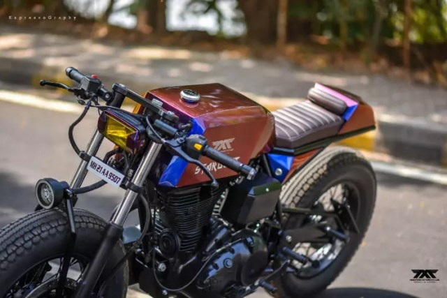 Custom Royal Enfield 'Stardust' café racer by Maratha Motorcycles