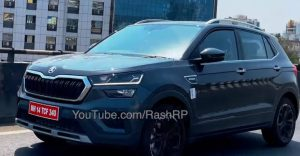 Skoda Kushaq compact SUV seen without camouflage before its official launch