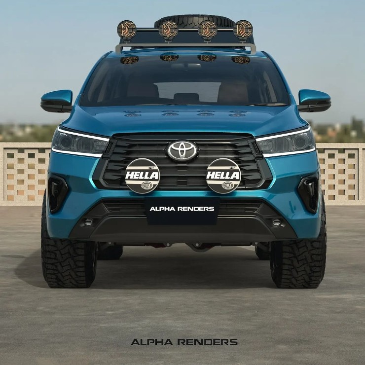 Toyota Innova Crysta मॉडिफाइड लुक्स बेहद