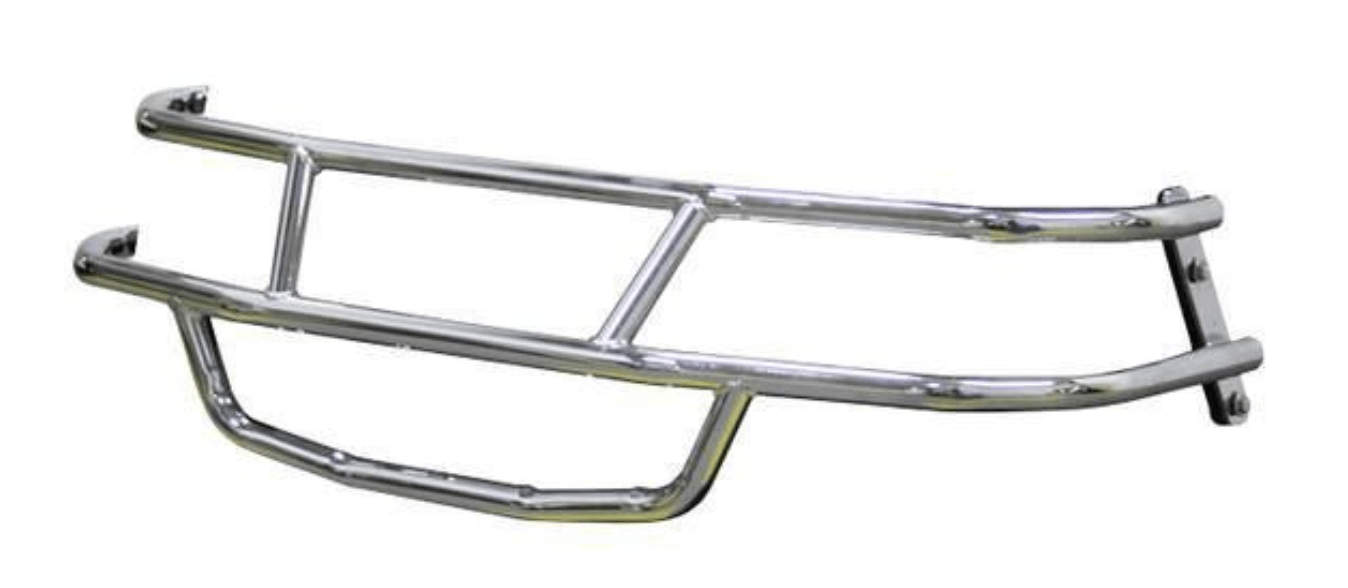 Chrome TXT Brushguard: Golf Cart Parts & Accessories