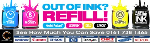 Cartridge Care Ink Banner