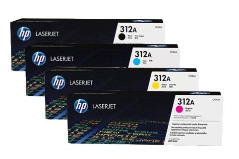 Compatible HP 312A Toner Cartridges Manchester CF380A CF381A CF382A CF383A