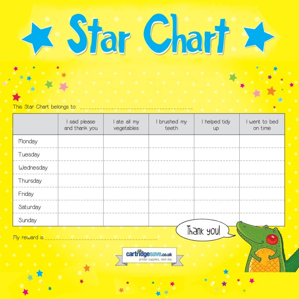Star Chart to print out Print what matters