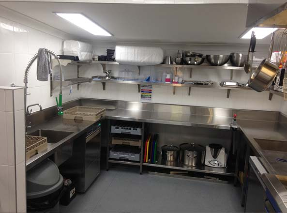 stainless steel carts kitchen distressed white cabinets take away food counter design & manufature - ...