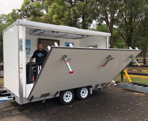 kitchen trailer bar for food and coffee trailers carts australia merchandise