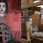 """SAVE THE DATE: """"Foundation"""" – A Two Woman Show at Art Share LA – May 5th, 7-10 pm"""
