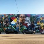 "The Historic ""Undiscovered America"" Mural in the DTLA Arts District Has Been Restored After 25 Years"