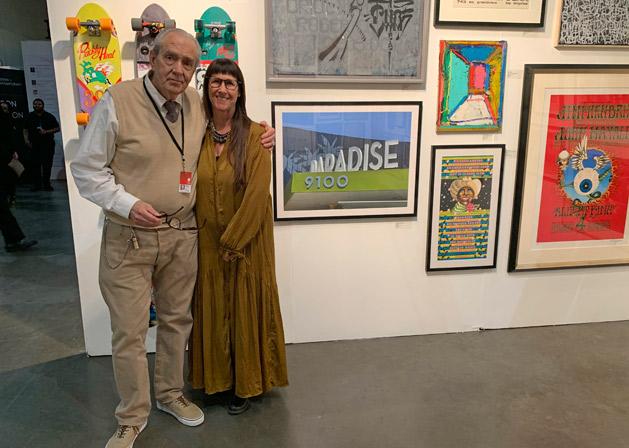 Artist Robert Williams and Cartwheel Art founder Cindy Schwarzstein