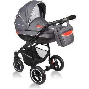Carucior Crooner Vessanti 2 in 1 Red - Gray 3