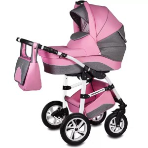 Carucior Flamingo Easy Drive Vessanti 3 in 1 pink