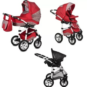 Carucior Flamingo Easy Drive Vessanti 3 in 1 Red