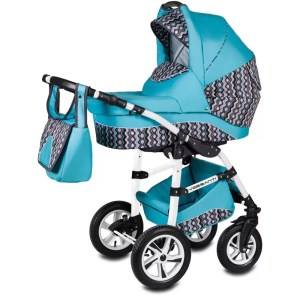 Carucior Flamingo Easy Drive Vessanti 3 in 1 turquoise