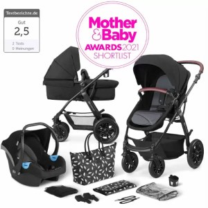 Carucior XMoov Kinderkraft 3 in 1 black