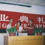 Frank Caruso at Closing Ceremony. NanJing University Hospital