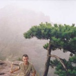 Frank Caruso Hiking up JiuHua Mountain