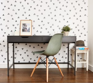 Chasing Paper wallpapered office