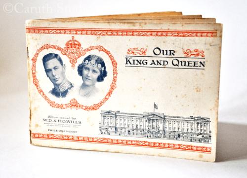 George VI commemorative cigarette card album