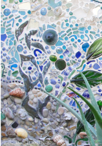 Mosaic sea mural colors