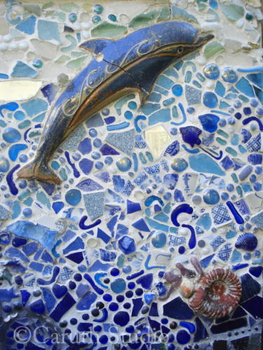 Mosaic sea mural detail