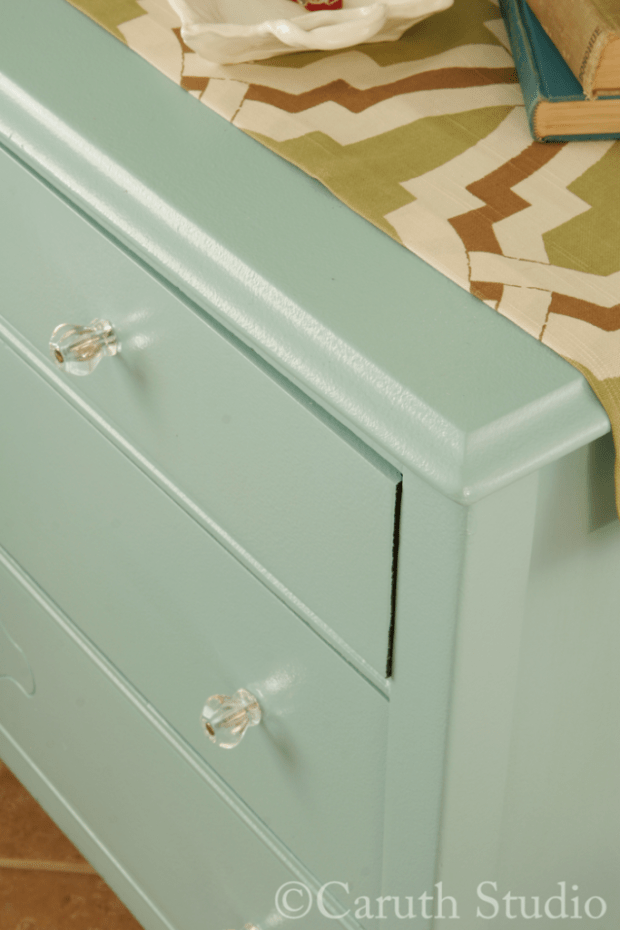Detail of painted chest