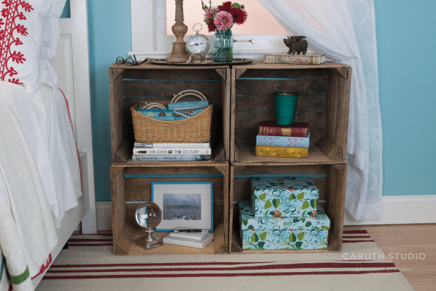Crate stack nightstand