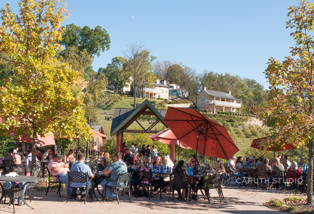 People enjoying a sit-down at the Winery