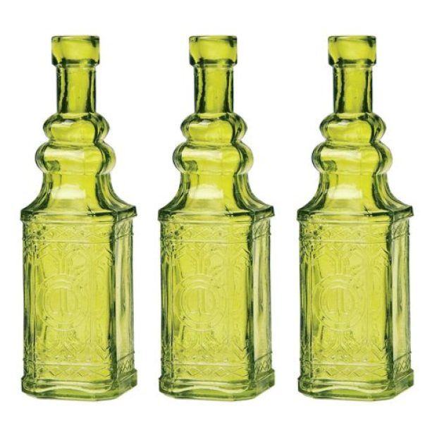 Luna Bazaar Small Vintage Glass Bottle Set