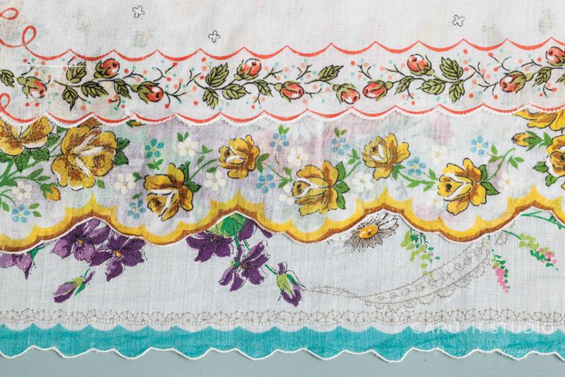 Stack of vintage handkerchiefs