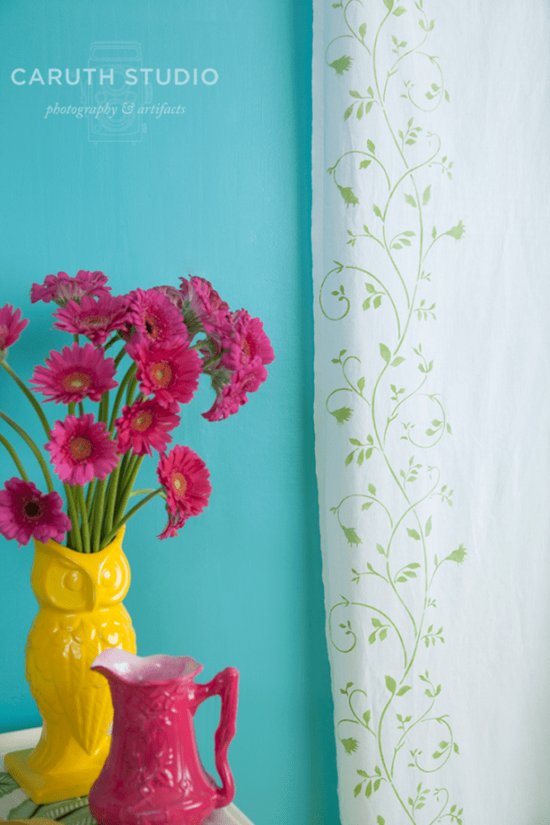 Stenciled Curtain