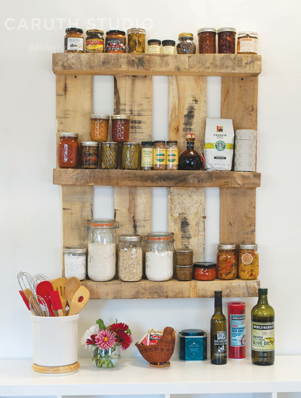Pallet pantry shelves