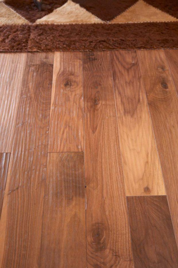 Whisper Mountain_HomerWood Amish Hand Scraped Black Walnut Natural Armsrong Flooring